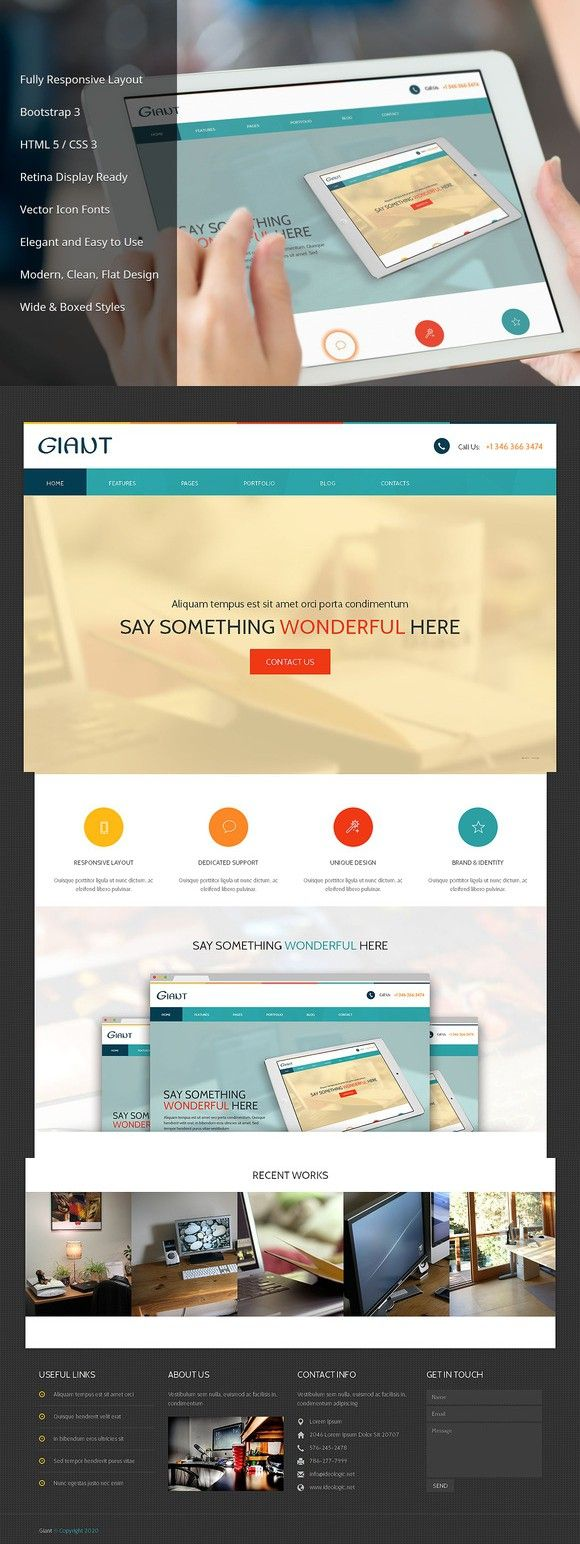 Giant Responsive Bootstrap Theme. Bootstrap Themes. 19.00