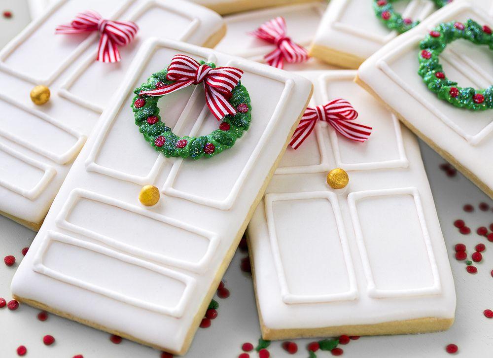 Galletas decoradas de puertas navide as de puerta for Puertas navidenas decoradas 2014