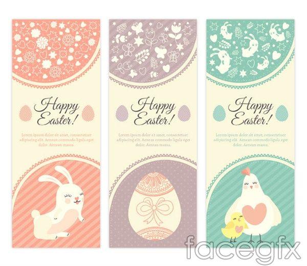 Fresh Easter cards vector Free Vectors Pinterest Vector - fresh invitation banner vector
