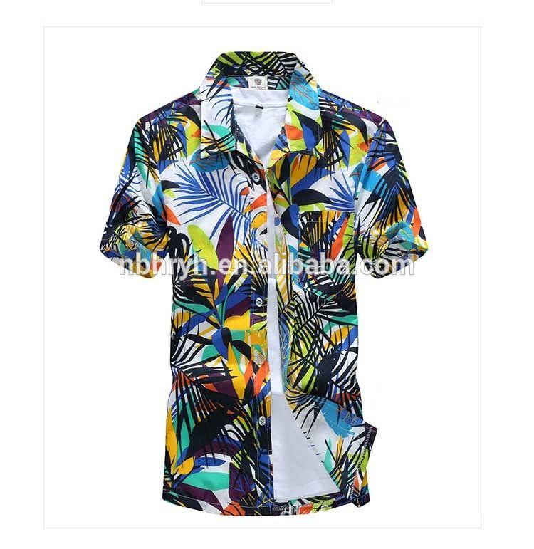 9553dcc79 Summer Latest Hawaiian Shirts Wholesale For Men Pictures Mens Hawaiian  Beach Printed Shirts