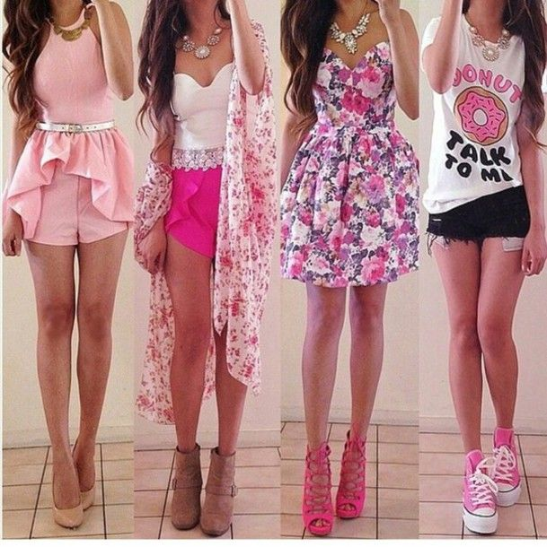 pink fashion wear | ... pink dress converse quote on it clothes ...