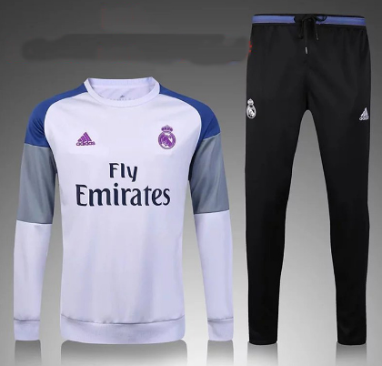 2016 2017 Real Madrid Training Kit White For Kids Real Madrid Moletom