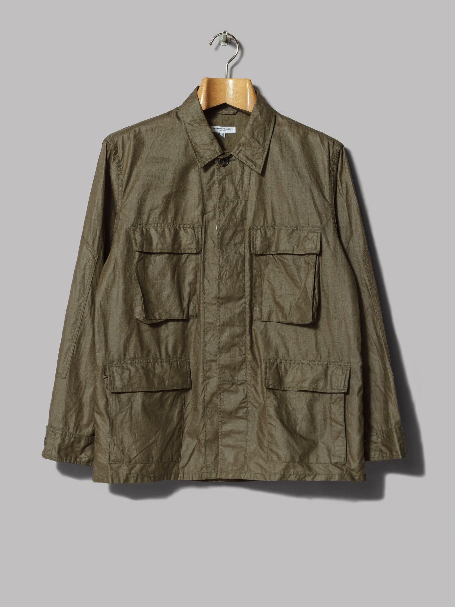 e01c9523a7a Engineered Garments BDU Jacket (Olive Coated Linen)