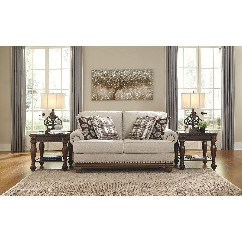 Surprising Signature Design By Ashley Harleson Loveseat Products Machost Co Dining Chair Design Ideas Machostcouk