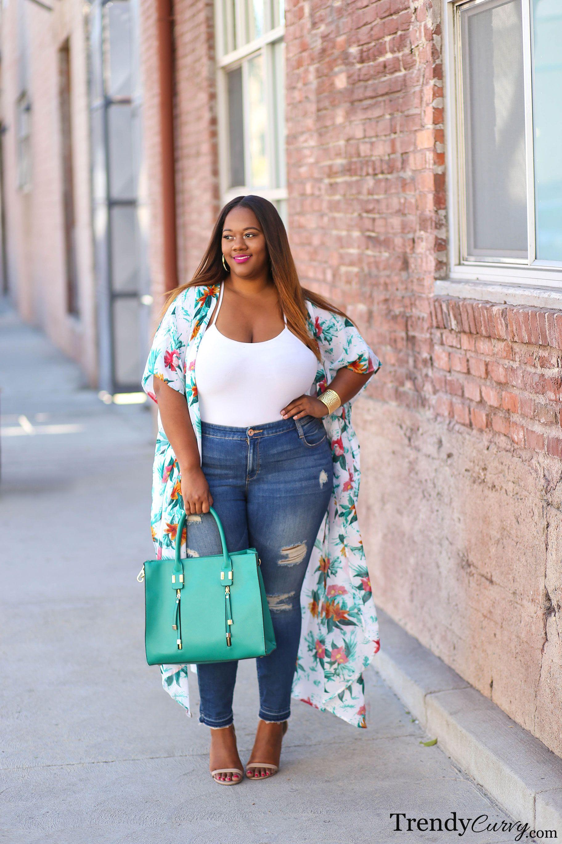 Pinterest fashion for proportion women - Spring Florals Plus Size Fashion Trendycurvy