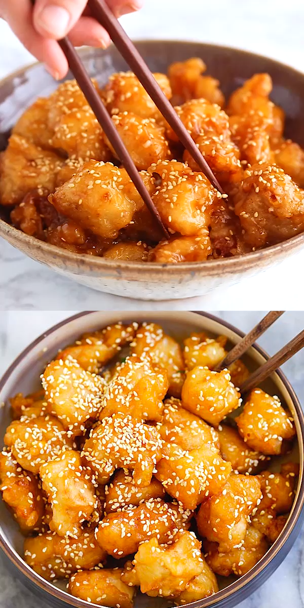 Honey Sesame Chicken #chinesefood