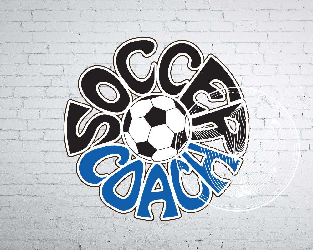 Digital Soccer coach Word with Soccer ball, Soccer coach