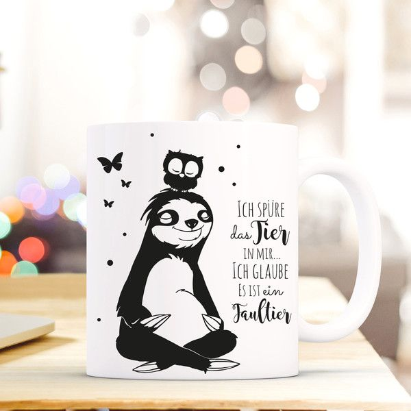 Photo of Decoración de pared – regalo taza de café perezoso búho diciendo ts401 – un diseñador …