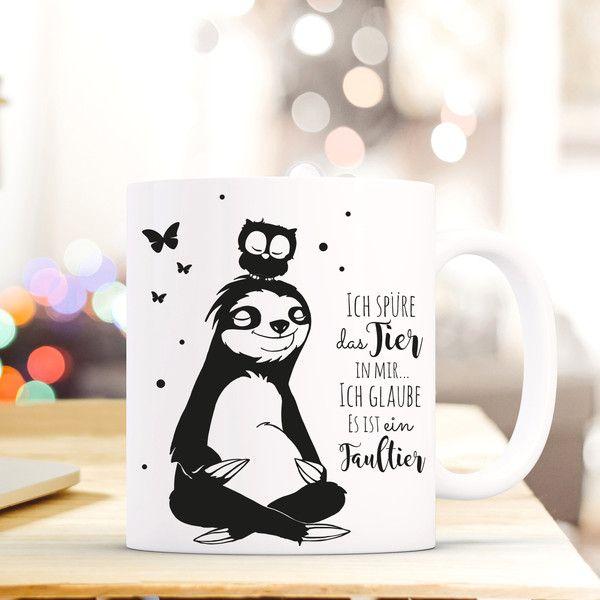 Fabulous Geschenk Kaffee Tasse Faultier Eule Spruch ts