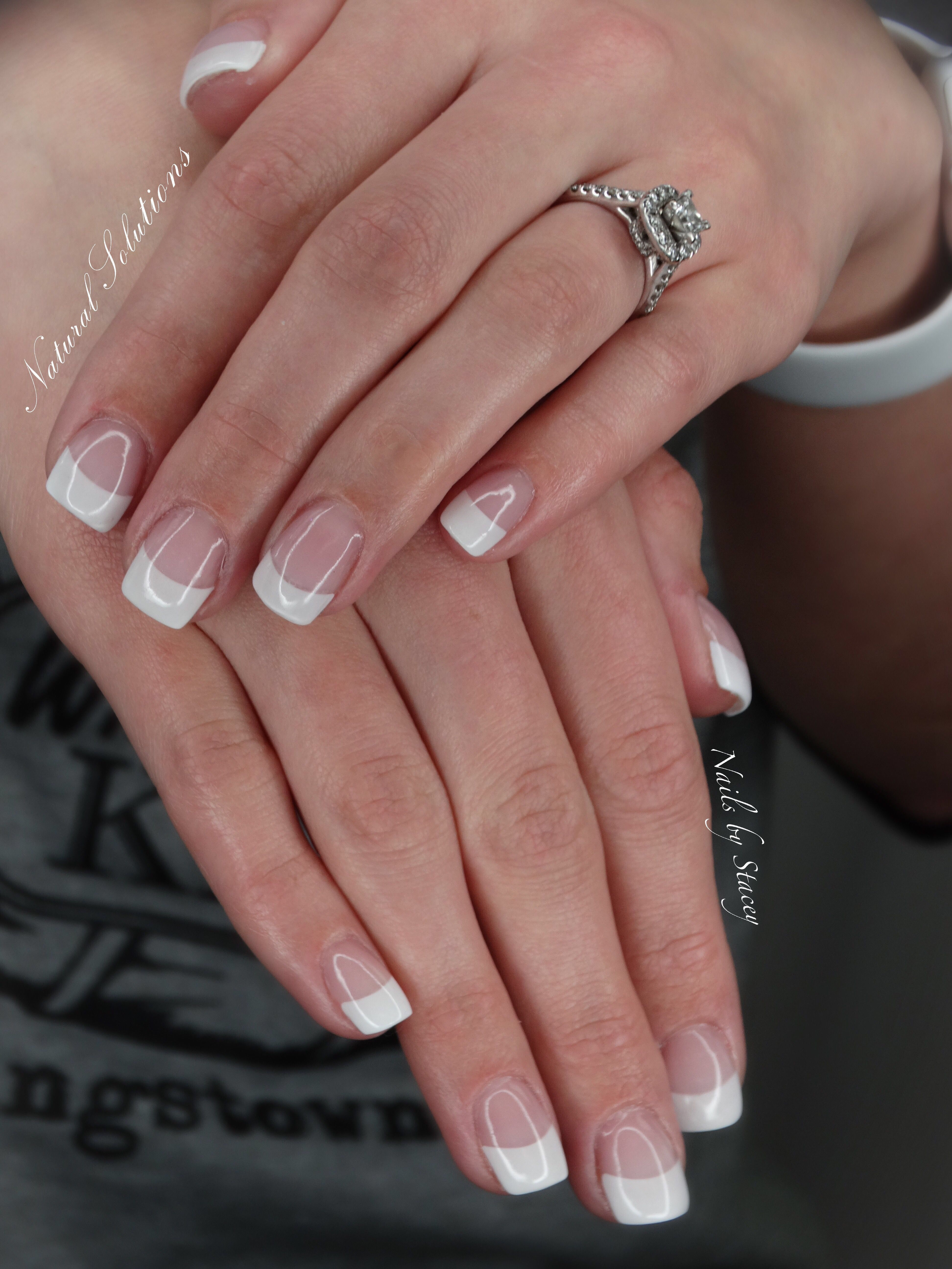 French Manicure Acrylic Nails In Salem Ohio Salon French Manicure Acrylic Nails Hair And Nail Salon Acrylic Nails