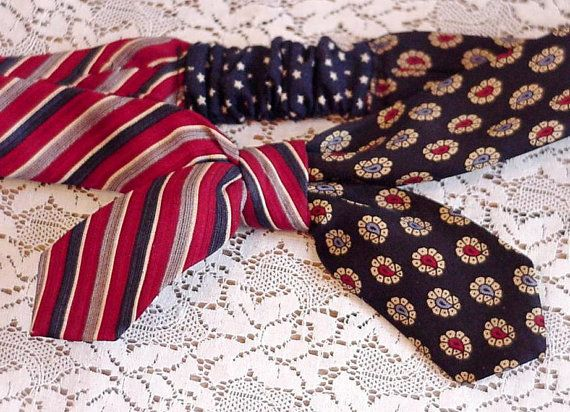 Silk Tie Headband Upcycled Neckties by itsyourcountryspirit #teamupcyclers