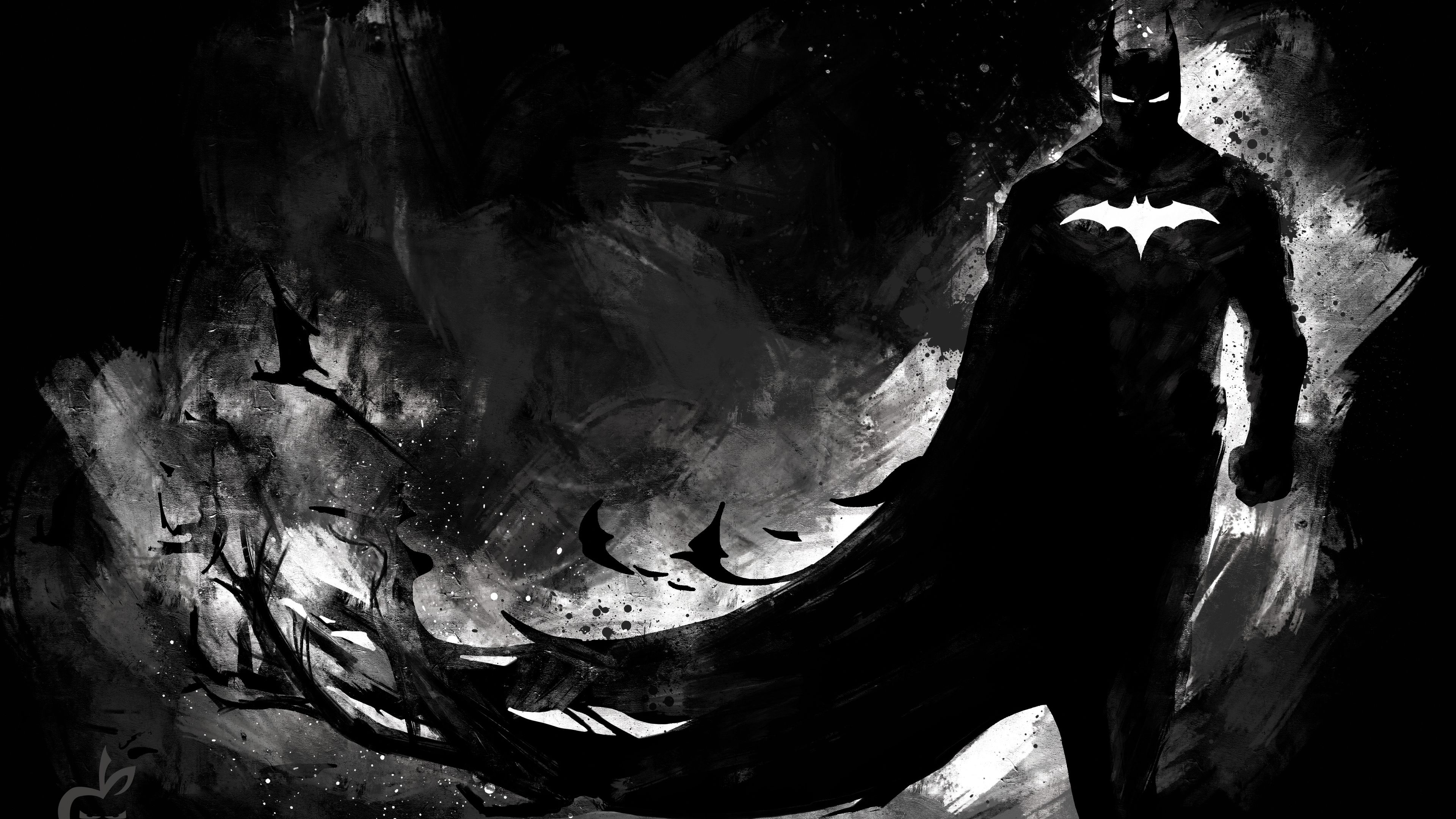 Dark Knight Monochrome 4k Superheroes Wallpapers Hd Wallpapers Digital Art Wallpapers Batman Wallpapers Art Batman Wallpaper Batman Fan Art Batman Painting
