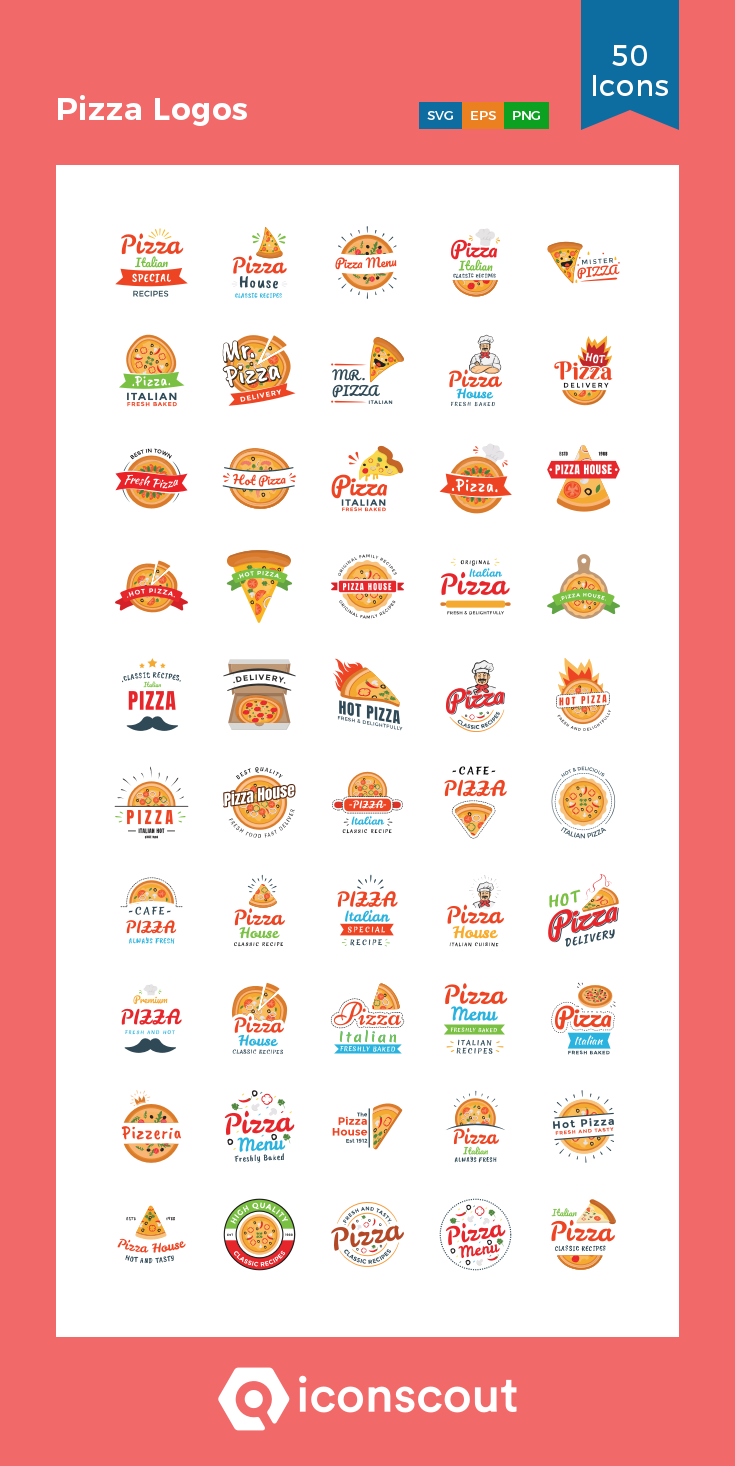 Download Pizza Logos Icon pack Available in SVG, PNG