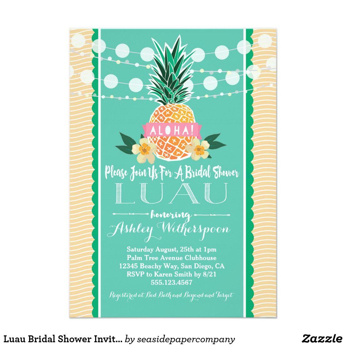 Luau bridal shower invitation luau shower invitations and bridal luau bridal shower invitation filmwisefo