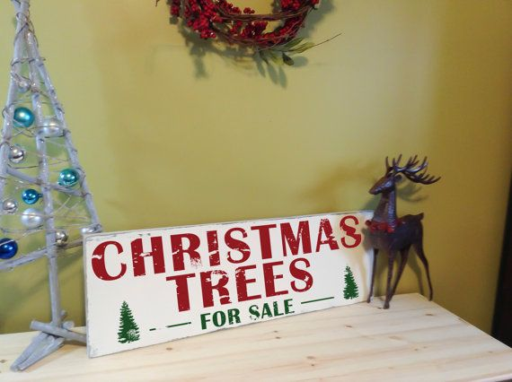 Christmas Trees For Sale Sign Farmhouse Christmas Wall Art Wood