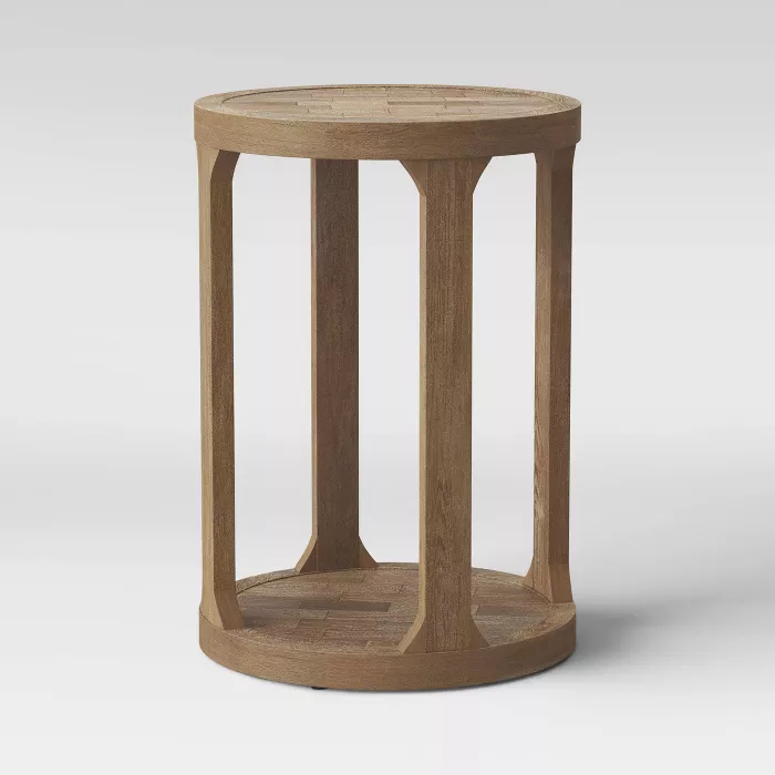 Castalia Round Accent Table Natural Wood Threshold In 2020