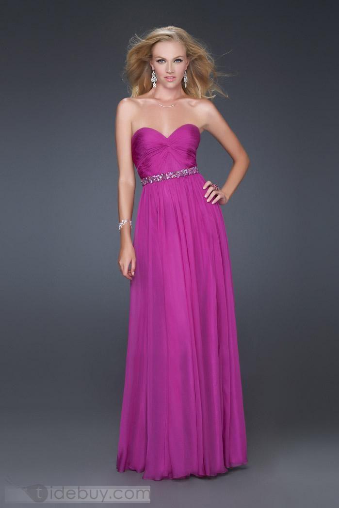 Gorgeous A-Line Floor-Length Sweetheart Evening Dresses