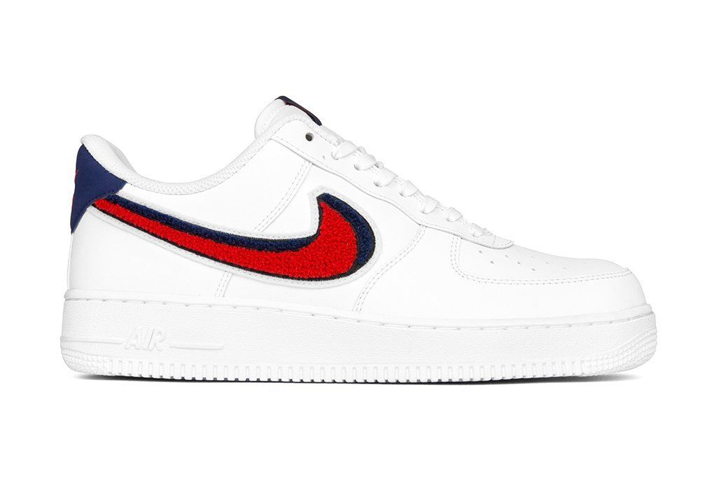 Nike Air Force 1 '07 - White/University Red/Blue Void | Nike ...