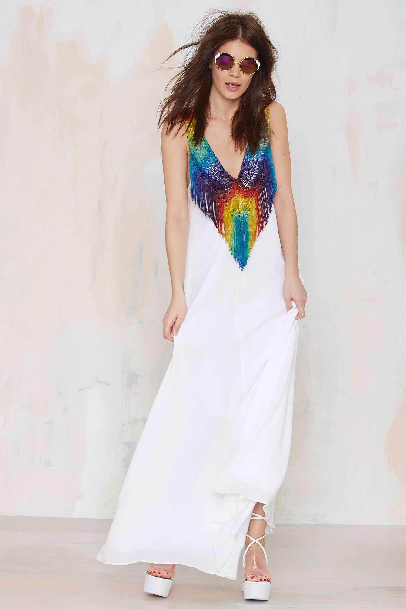 ede3c6b012 Mara Hoffman Do or Tie-Dye Fringe Dress