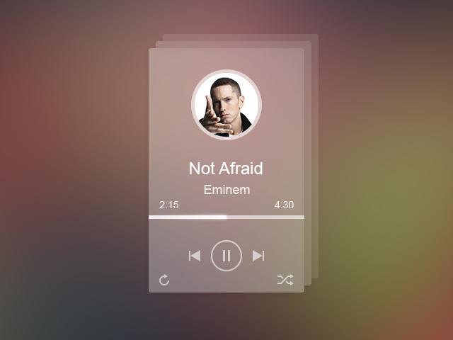 Freebie Flat And Transparent Music Player Psd Web Design Resources Transparent Design Transparent