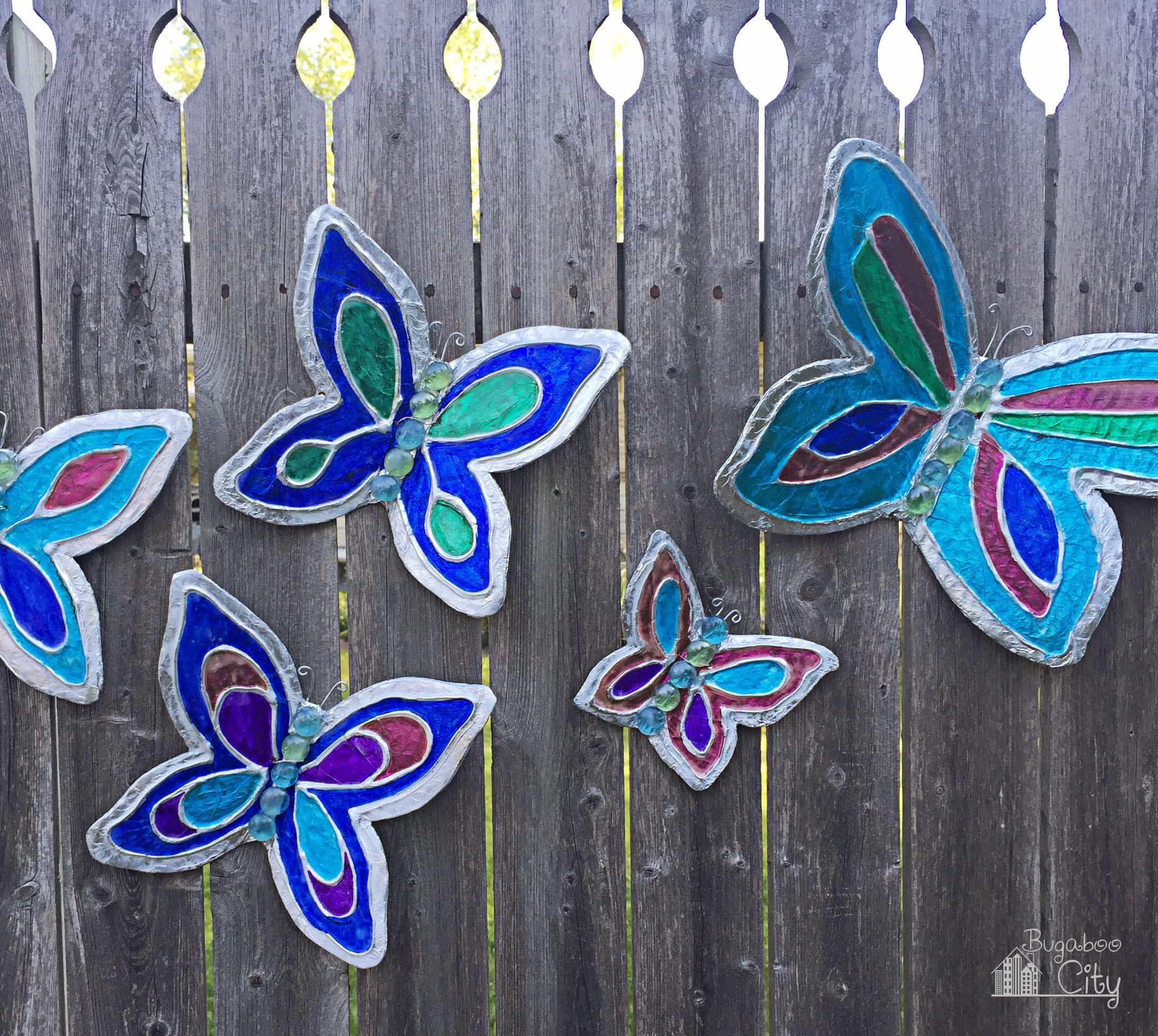 Diy Butterfly Garden Ornament Diy Butterfly Garden Art Diy