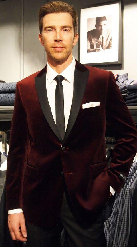 Men/'s Burgundy Velvet Blazer Tuxedo Suit Jacket Groom Wedding Dinner Prom Suit