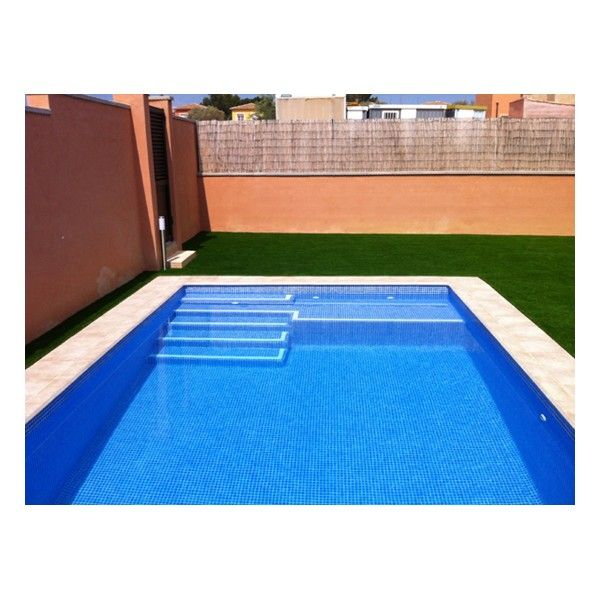 Piscina de hormig n 6m x 3m de equipada con skimmer for Construir escalera piscina