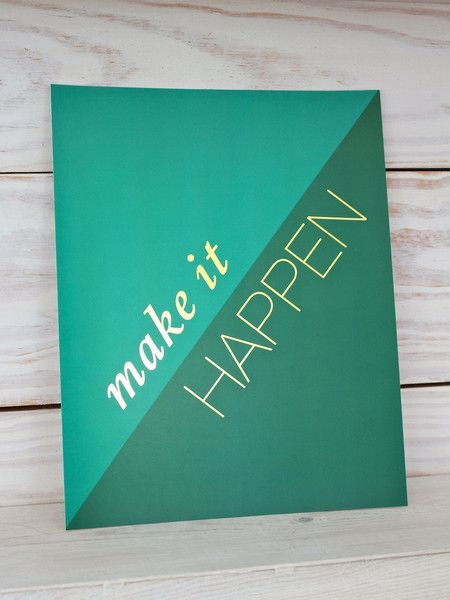 Color of the Year // Emerald + Teal Gold Foil Art Print
