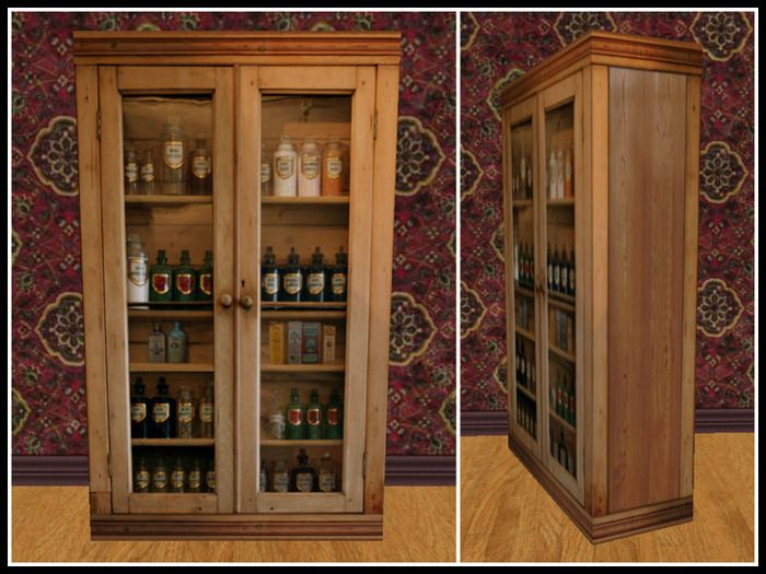 RE Old Wood Medicine Cabinet - One Prim - Western/Old West ...