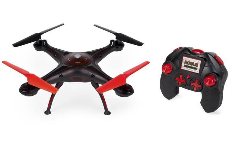 World Tech Toys 33777 Rogue Remote Control Helicopter Drone, Black/Red #techtoys