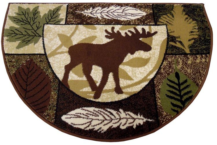 Moose Slice Hearth Rug Hearth Rug Fireplace Rugs Hearth