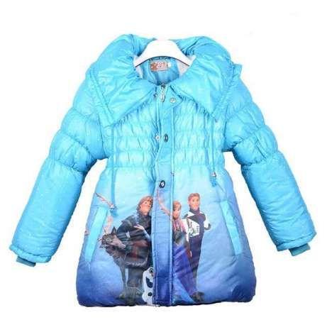 Kurtka Plaszczyk Elza Frozen Kraina Lodu Hit 3 Kolory Ocieplana Poznan Image 1 Girls Winter Coats Kids Outerwear Kids Winter Outfits