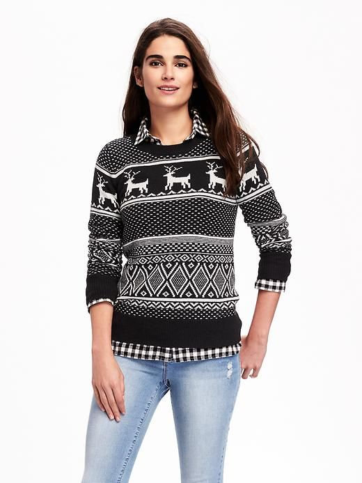 Fair Isle Sweater with Checkered Shirt | Clothing/ Style ...