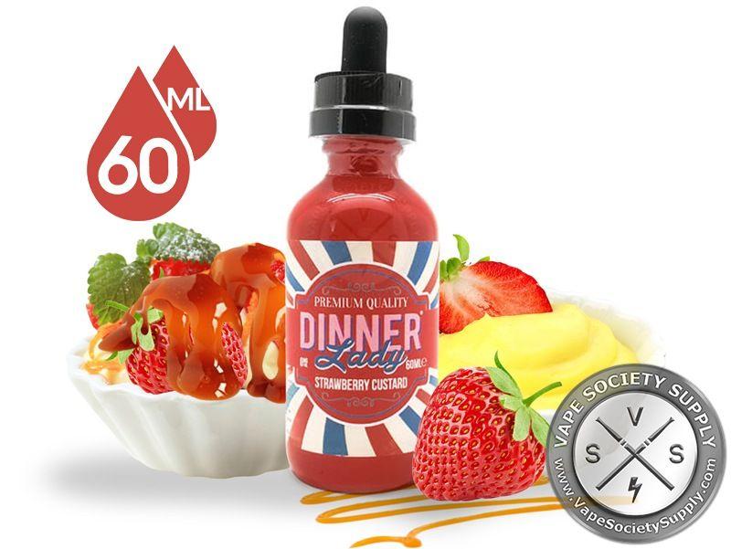 Strawberry Custard Dinner Lady 60ml 10 99 Dinner
