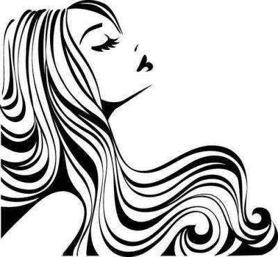 Dibujos Dibujos De Peluqueria Logo De Salon De Belleza Silueta De Mujer Dibujo
