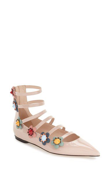 25850fd257a9f Fendi Fendi  Flowerland  Strappy Flat (Women) available at  Nordstrom