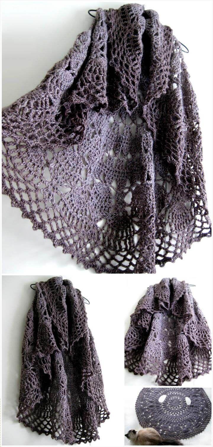 12 Free Crochet Patterns for Circular Vest Jacket | Free crochet ...