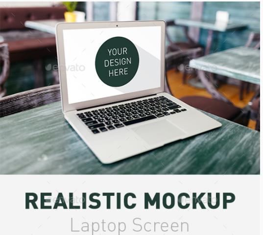 Realistic Laptop Screen Mockup 8211 5 Psd Files Laptop Screen Mockup Laptop