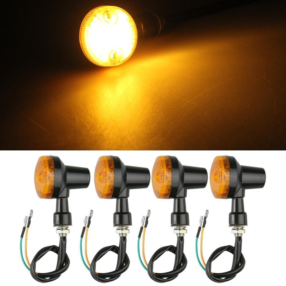 Likebuying 4pcs Motorcycle Motorbike Turn Signal Light Bulb Indicator Amber Lights 12v Cheap Bulb Syringe Buy Q Amber Lights Motorcycle Lights Halogen Bulbs