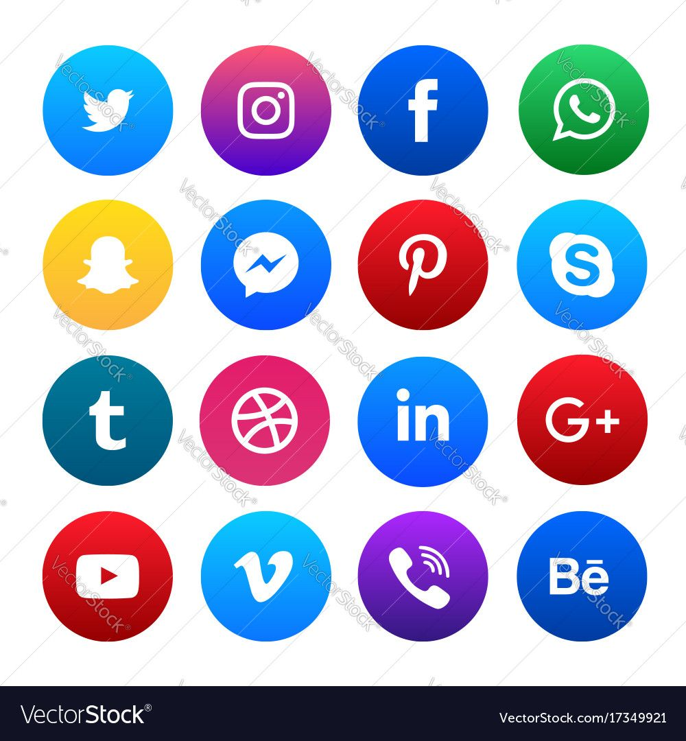 Social Media Icons Set. Download a Free Preview or High