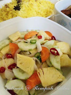 Rempah Ratus Acar Nenas Timun Resep Sayuran Resep Masakan Malaysia Resep Makanan