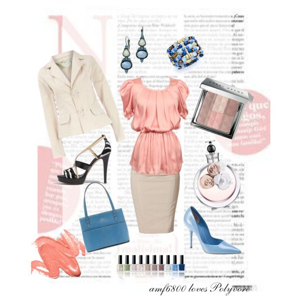 """""""Blue Coral"""" by amf6800 on Polyvore"""