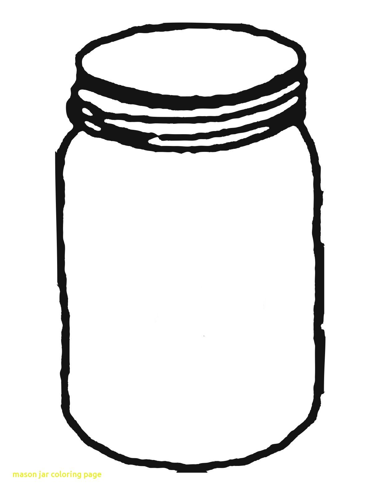 Mason Jar Coloring Page With Template For Clipart Clipartwiz And