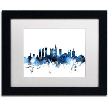 Trademark Fine Art Atlanta Georgia Skyline White Canvas Art by ...