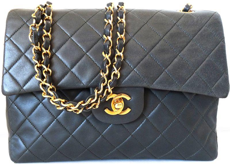 Chanel Designer Handbags Khaki Matelasse Quilted Leather Shoulder Bag Gold Chain Purse
