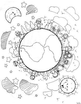 Oi Desenhos Para Colorir Para O Dia Da Terra Clique Para
