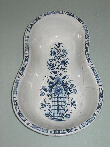 Ceramic Bowl Bidet 18thc France Chamber Pot