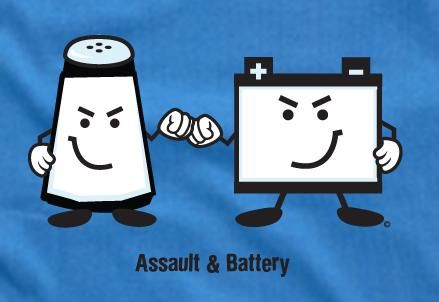 Assault And Battery Join Forces To Wreak Havoc Law School Humor Paralegal Humor Law School Memes