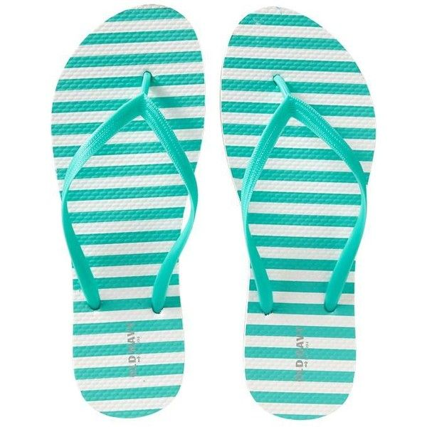 6b9792f45b1 Old Navy Womens Printed Flip Flops Size 8 - Purple stripe ( 3.97) ❤ liked  on Polyvore featuring shoes