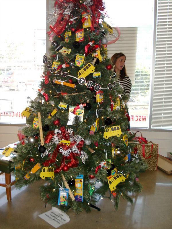 School themed Christmas tree Cute Christmas Tree